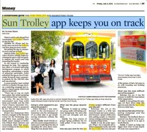 Sun Trolley Tracker App