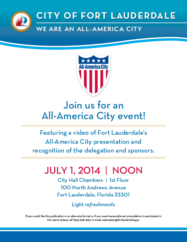 Celebrate Ft. Lauderdale's All-American City Award