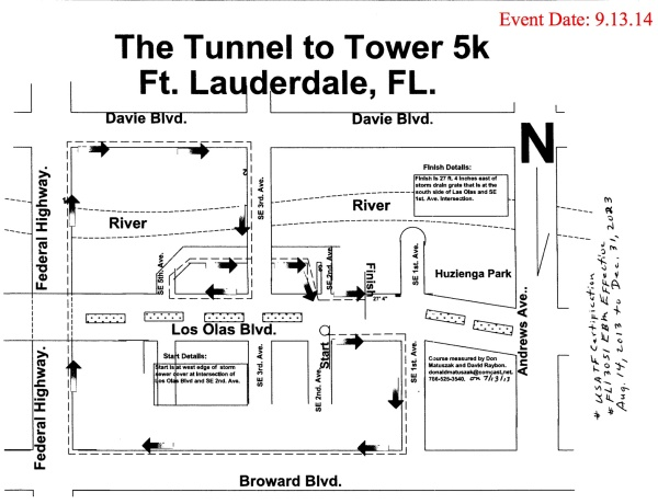 Tunnel toTowers 5K Route Map